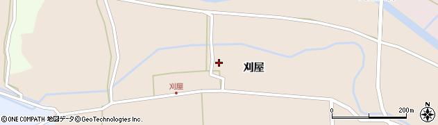 山形県酒田市刈屋東村94周辺の地図