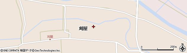 山形県酒田市刈屋東村58周辺の地図