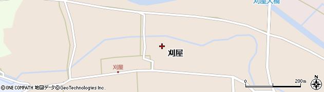 山形県酒田市刈屋東村91周辺の地図