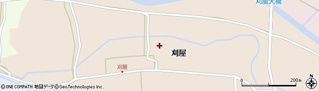 山形県酒田市刈屋東村92周辺の地図