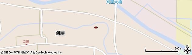 山形県酒田市刈屋東村11周辺の地図