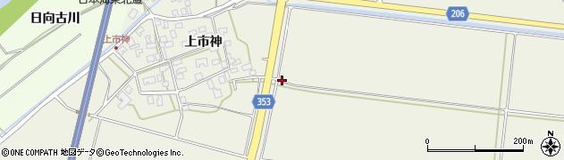 山形県酒田市穂積神田周辺の地図