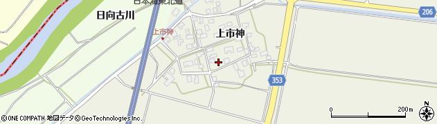 山形県酒田市穂積上市神82周辺の地図