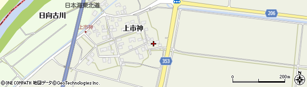 山形県酒田市穂積上市神90周辺の地図