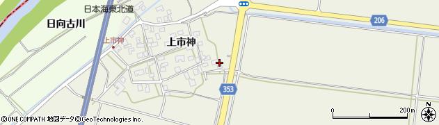 山形県酒田市穂積上市神86周辺の地図
