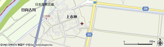 山形県酒田市穂積上市神76周辺の地図