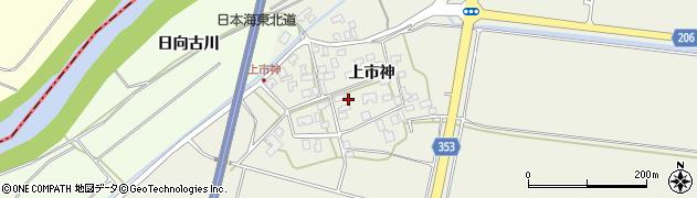 山形県酒田市穂積上市神81周辺の地図