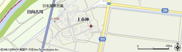 山形県酒田市穂積上市神78周辺の地図