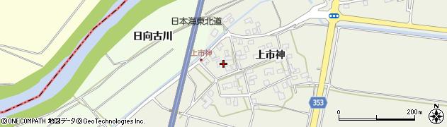 山形県酒田市穂積上市神65周辺の地図