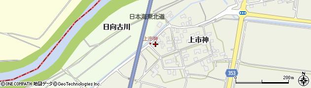 山形県酒田市穂積上市神69周辺の地図