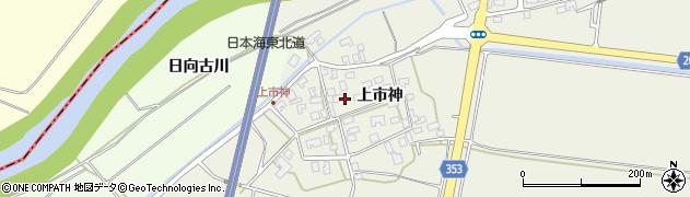 山形県酒田市穂積上市神51周辺の地図