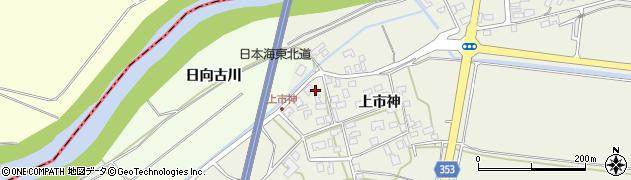 山形県酒田市穂積上市神59周辺の地図
