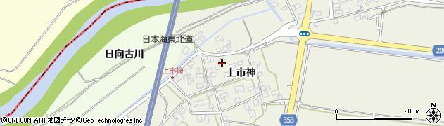 山形県酒田市穂積上市神49周辺の地図