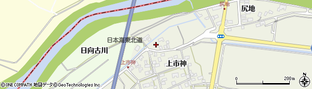 山形県酒田市穂積尻地189周辺の地図