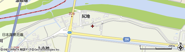 山形県酒田市穂積土手添71周辺の地図