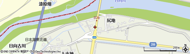 山形県酒田市穂積尻地116周辺の地図