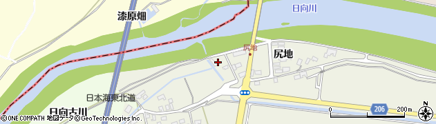 山形県酒田市穂積尻地244周辺の地図