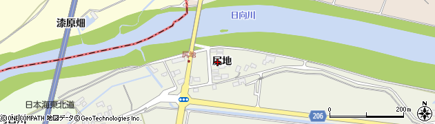 山形県酒田市穂積尻地65周辺の地図