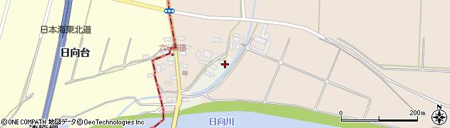 山形県酒田市穂積元屋敷70周辺の地図