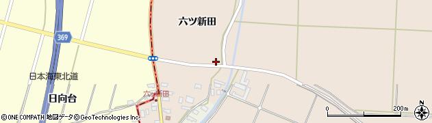 山形県酒田市宮内六ツ新田41周辺の地図