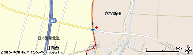 山形県酒田市宮内六ツ新田52周辺の地図