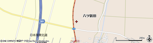 山形県酒田市宮内六ツ新田61周辺の地図