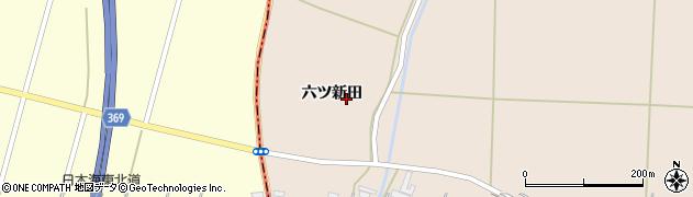 山形県酒田市宮内六ツ新田25周辺の地図