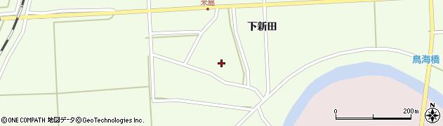 山形県酒田市米島下新田周辺の地図