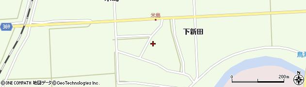 山形県酒田市米島下新田38周辺の地図