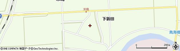 山形県酒田市米島下新田39周辺の地図