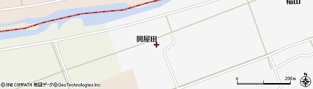 山形県酒田市福山興屋田23周辺の地図