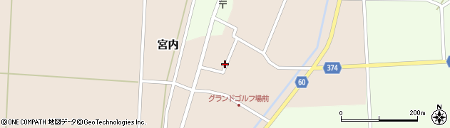 山形県酒田市宮内周辺の地図