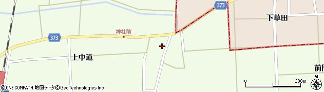 山形県酒田市米島上中道15周辺の地図