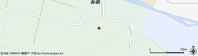 山形県酒田市赤剥村腰74周辺の地図
