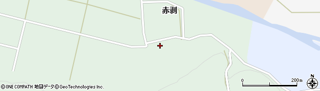 山形県酒田市赤剥村腰70周辺の地図