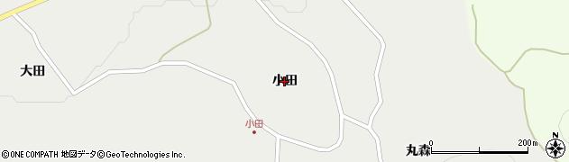 岩手県一関市東山町長坂(小田)周辺の地図