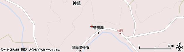 岩手県一関市大東町曽慶(神蔭)周辺の地図