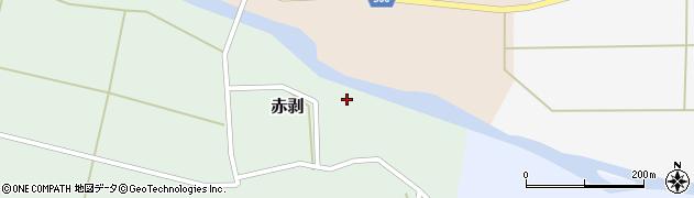 山形県酒田市赤剥村脇周辺の地図