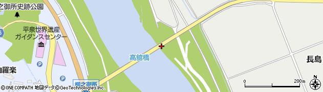 高館橋周辺の地図