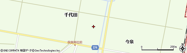 山形県酒田市千代田千本柳周辺の地図