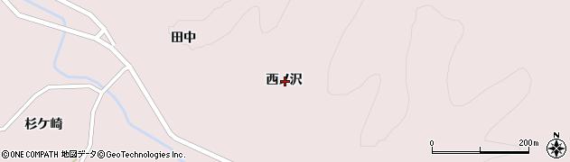 岩手県一関市大東町曽慶西ノ沢周辺の地図