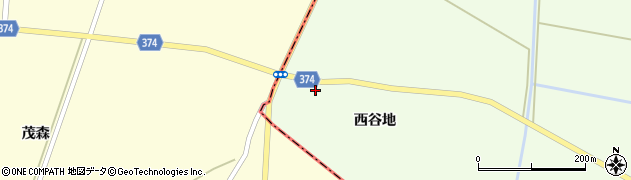 山形県酒田市千代田西谷地172周辺の地図