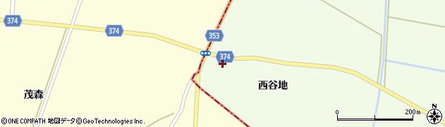 山形県酒田市千代田西谷地195周辺の地図