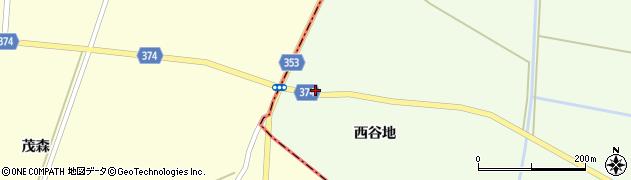 山形県酒田市千代田西谷地周辺の地図