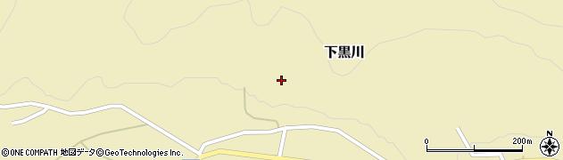 山形県酒田市下黒川水上118周辺の地図