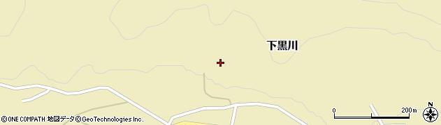 山形県酒田市下黒川水上117周辺の地図