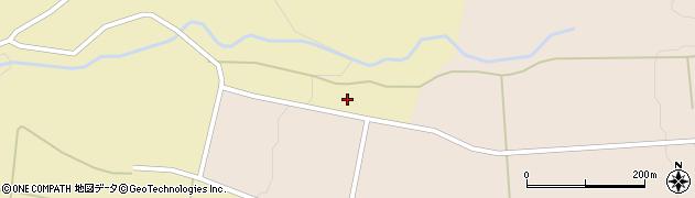 山形県酒田市下黒川北平周辺の地図