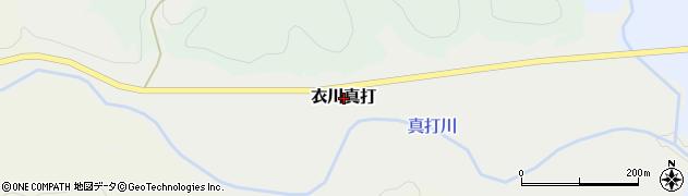 岩手県奥州市衣川真打周辺の地図