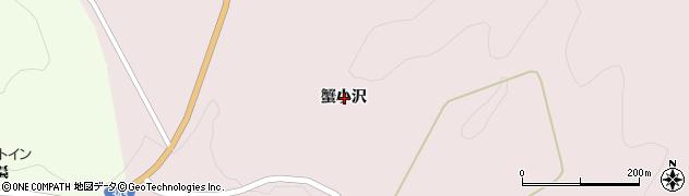 岩手県一関市大東町曽慶蟹小沢周辺の地図
