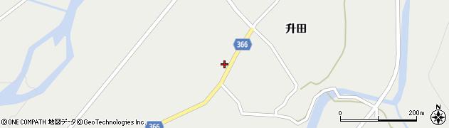 山形県酒田市升田野向19周辺の地図